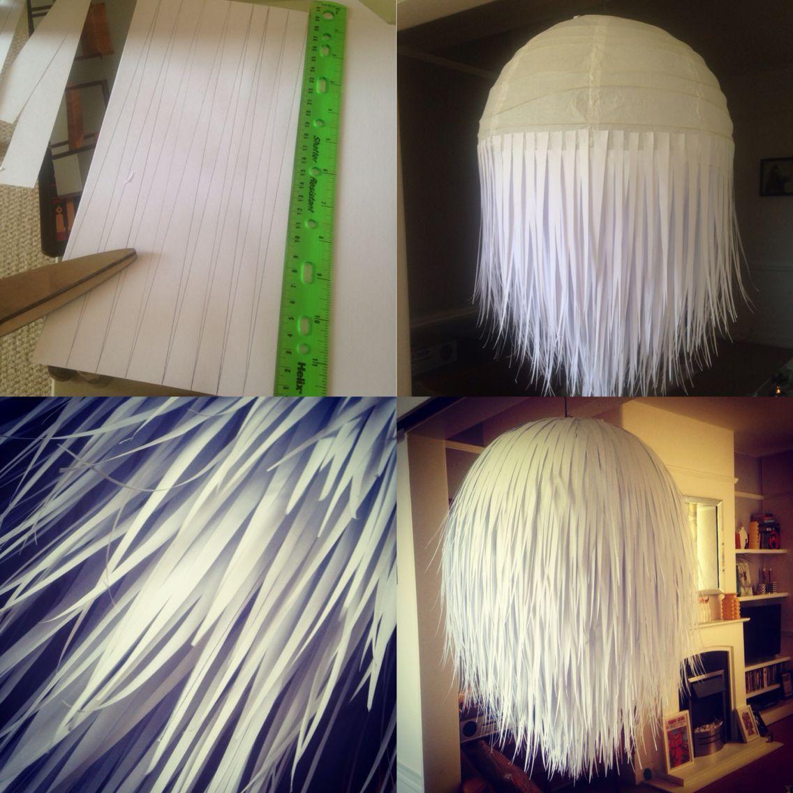 DIY paper lamp shade Paper lampshade, Diy chandelier