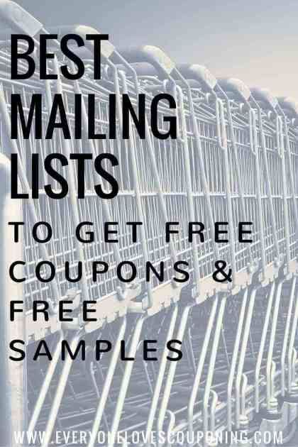 BEST Mailing Lists To Get FREE Coupons & FREE Samples! #couponing