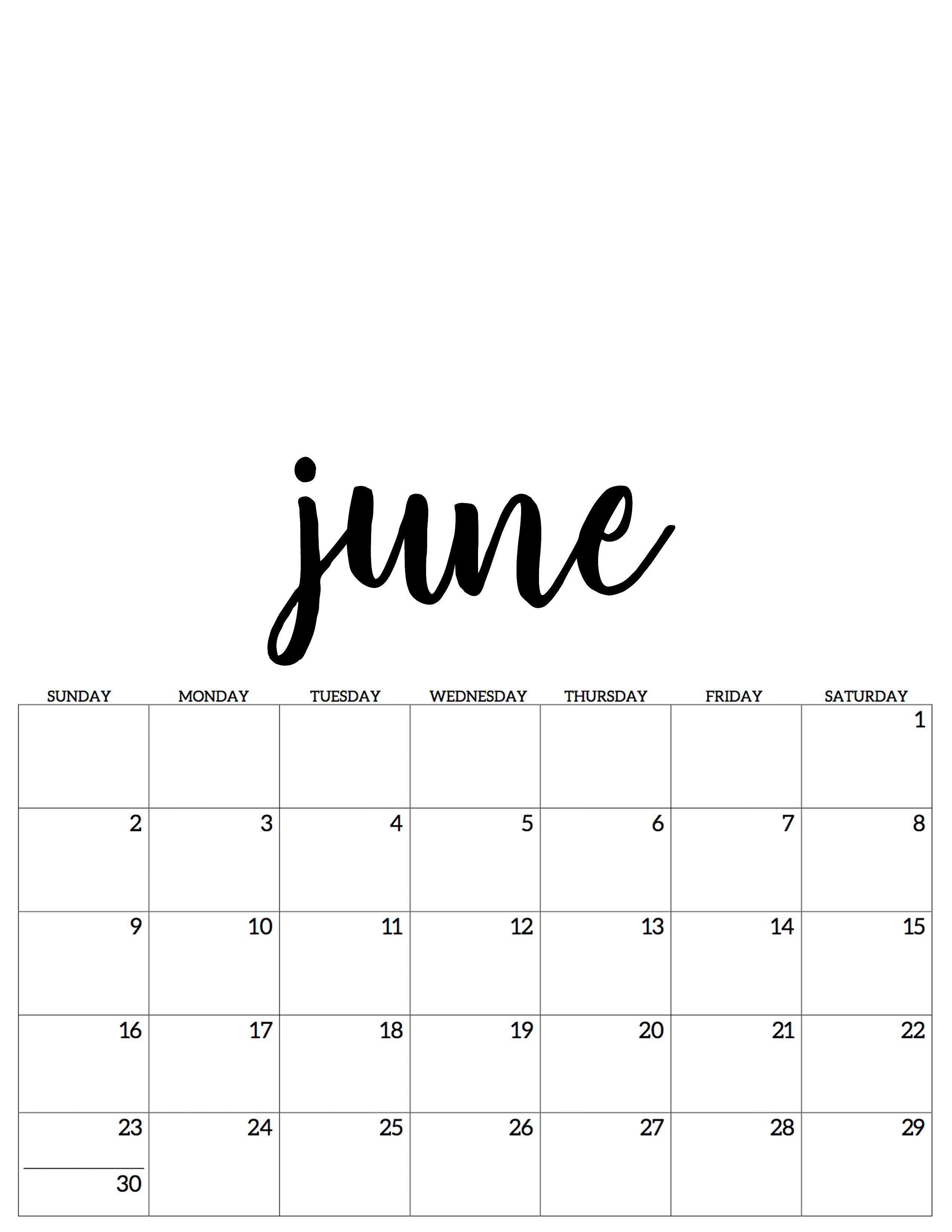 June July Kalender Calendar 2019 Calendar June June Calendar