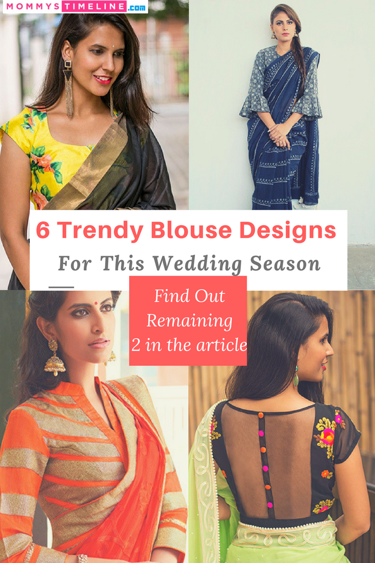 4df5c7b6de4866 6 Blouse Designs To Pair With Your Designer Saree | Mommy Style ...