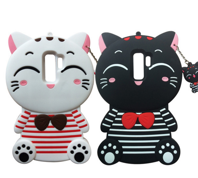 05c1a38fb 3D Cartoon Lucky Cat Samsung Galaxy S9 Plus Case Soft Silicone Case For  Samsung S9 5.8