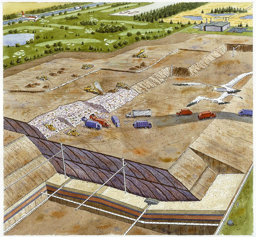 A landfill illustration by pierre mion c 1970 900833