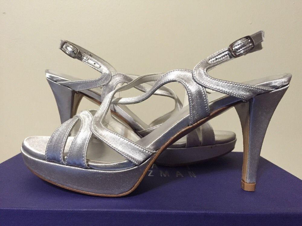 c9c74d408 Stuart Weitzman Axis Moonglow Satin Women s Dressy Evening Heels Sandals  6.5 M  StuartWeitzman  FashionDressyEveningHeelsStrappySandals   ...