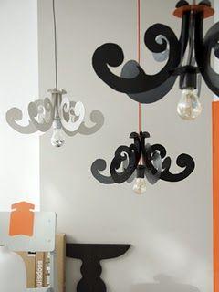 Diy cardboard chandeliers lightinglamps shades pinterest diy cardboard chandeliers aloadofball Images