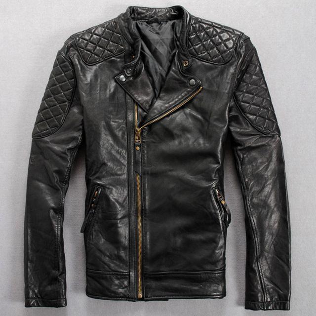 Chaqueta de Cuero de Imitación con Cremallera Moto Jacket Abrigo Para Hombre - Marron Oscuro / XXL 5y0u5srXS