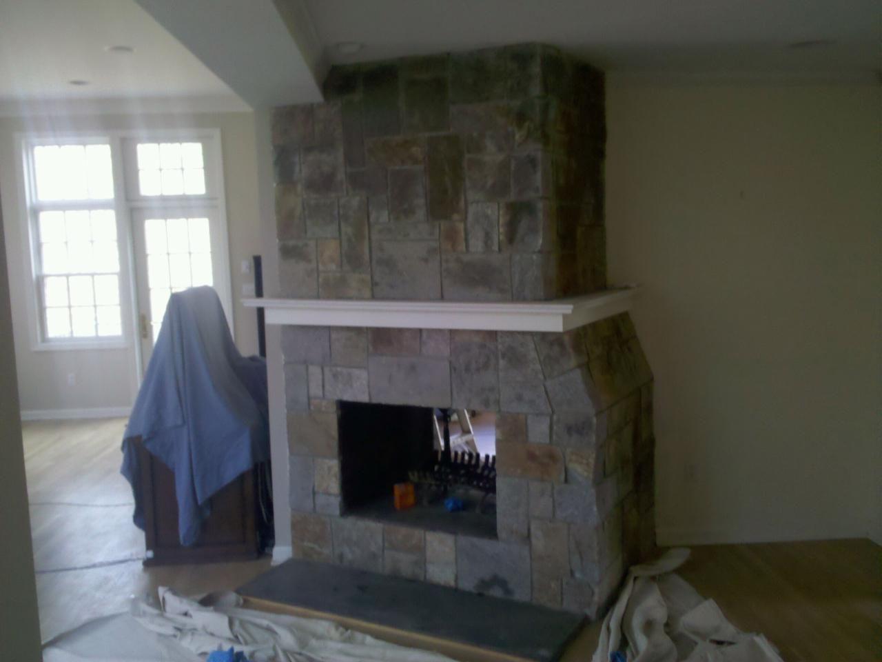 Spruce Mountain Square Cut Veneer Fireplace