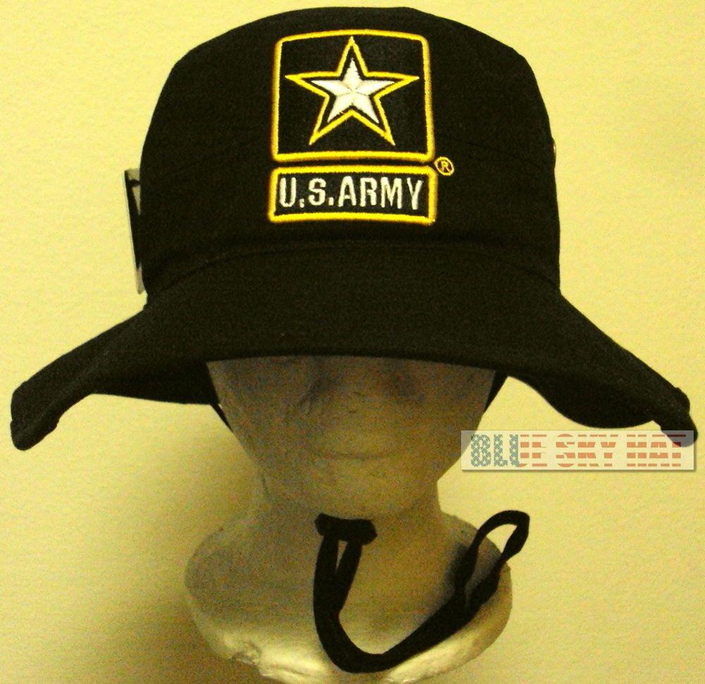 New Licensed U S Army Insignia Logo Boonie Outdoor Bush Cap Bucket Hat S M L Xl Ebay Hats Cap Cool Hats