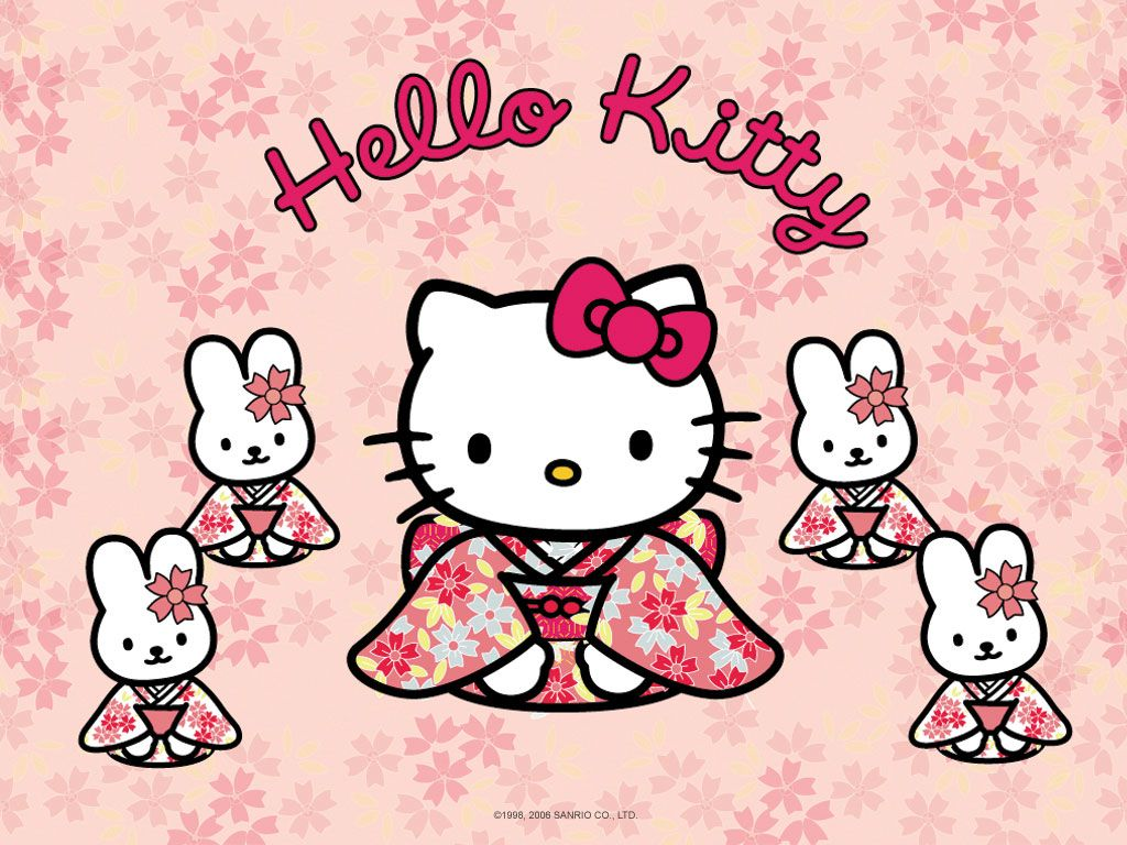 Hello Kitty Wallpaper 1024x768 Wallpapersafari Hello Kitty Backgrounds Hello Kitty Hello Kitty Wallpaper