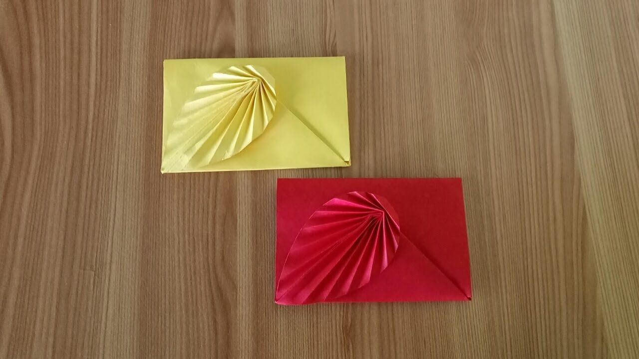 How To Make A Colored Paper Envelop Origami Envelope Easy Tutorial Origami Envelope Easy Origami Envelope Origami