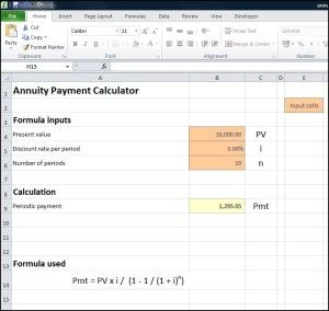 Annuity Payment Calculator Double Entry Bookkeeping Annuity Calculator Annuity Calculator