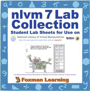 These 7 labs guide students through a variety of middle school math topics: statistics graphs, probability, integers, functions, solving equations (x2) and transformations. These virtual manipulatives are a great way for students to explore the foundations of common core math in a fun and conceptual format.