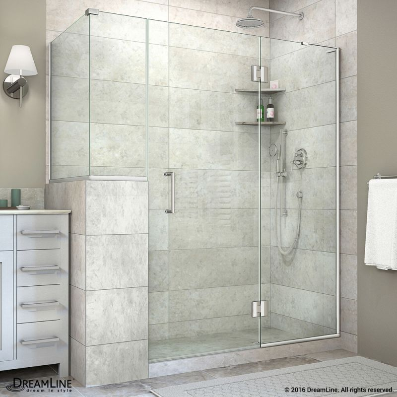 DreamLine Unidoor X High X Wide X Deep Right Hinged Chrome Showers Shower  Enclosures Alcove