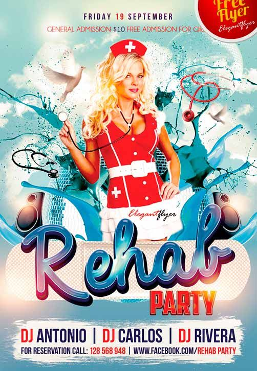 Red Party Free Psd Flyer Template  You    Free Psd