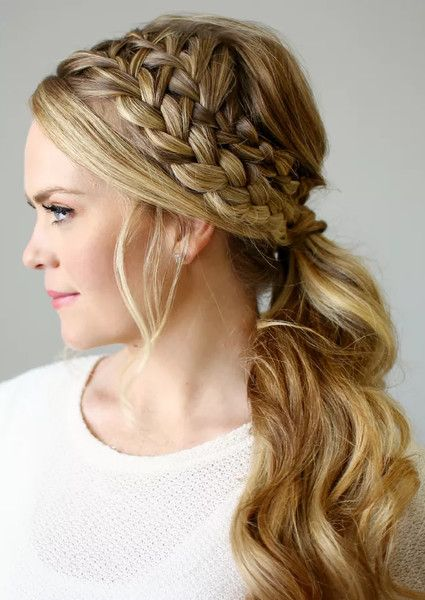 Stack Two Side Braids Cowgirl Hair Styles Hair Styles Braided Hairstyles