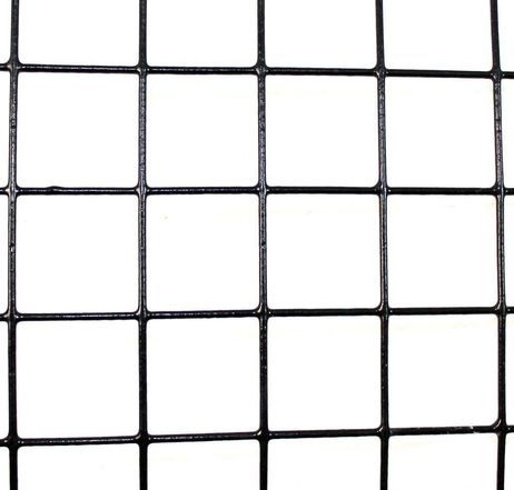 4 X 100 Welded Wire 14 Ga Galvanized Steel Core 12 Ga After Black Pvc Coating 2 X 2 Mesh Welded Wire Fence Hog Wire Fence Deer Fence