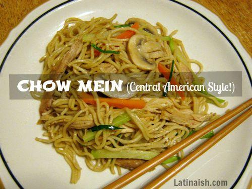 Salvadoran Chow Mein Latinaish Chow Mein Food Guatemalan Recipes