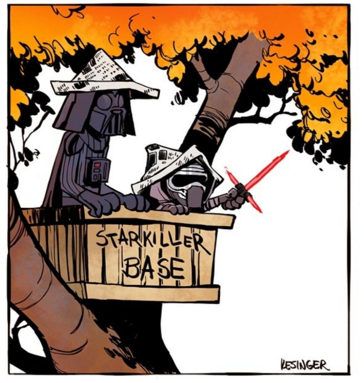 Brian Kesinger- Calvin & Hobbes Star Wars Mashup | Star Wars ...
