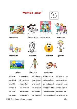 wortfeld sehen - Wortfelder Beispiele