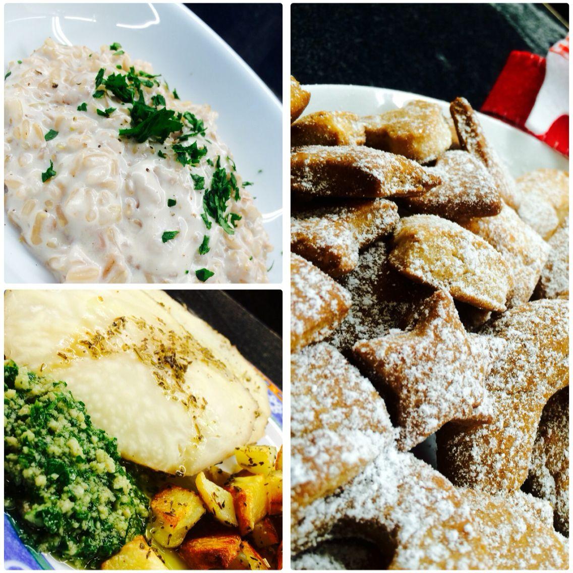 Risotto al limone,  sedano rapa al forno con salsa verde e patate, biscotti cannella/zenzero ❤️ #vegan #veganfood #foodporn #food #vegetarian #veg #vegano #veggie #veganfoodporn #veggies #veganfoodshare #veggy #veganlife #veganism #govegan #vegangirl #vegans #vegana #instavegan #veganrecipes #veganismo #vegani #veganinstagram