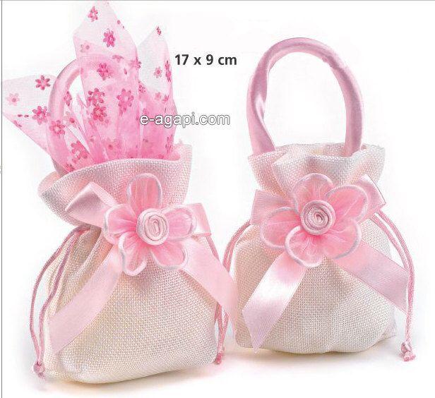 pink baptism favors for girls bomboniere battesimo bags christening