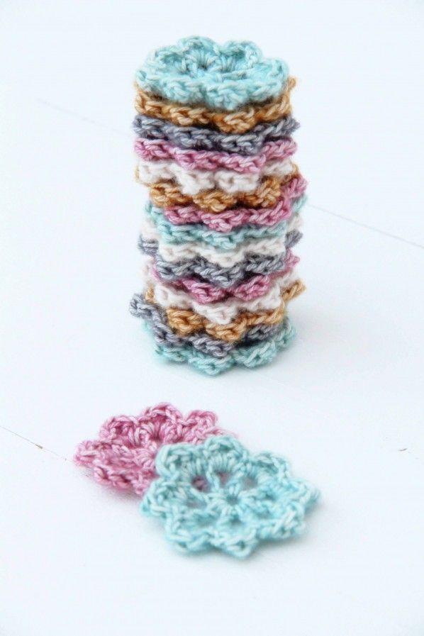 Blüten häkeln | Knitting | Pinterest | Blüten häkeln, Blüten und Häkeln