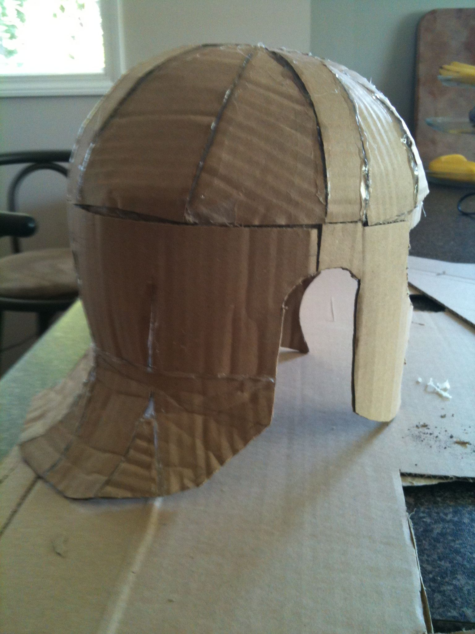 cardboard armour template - roman armour part 1 start at the top constructables