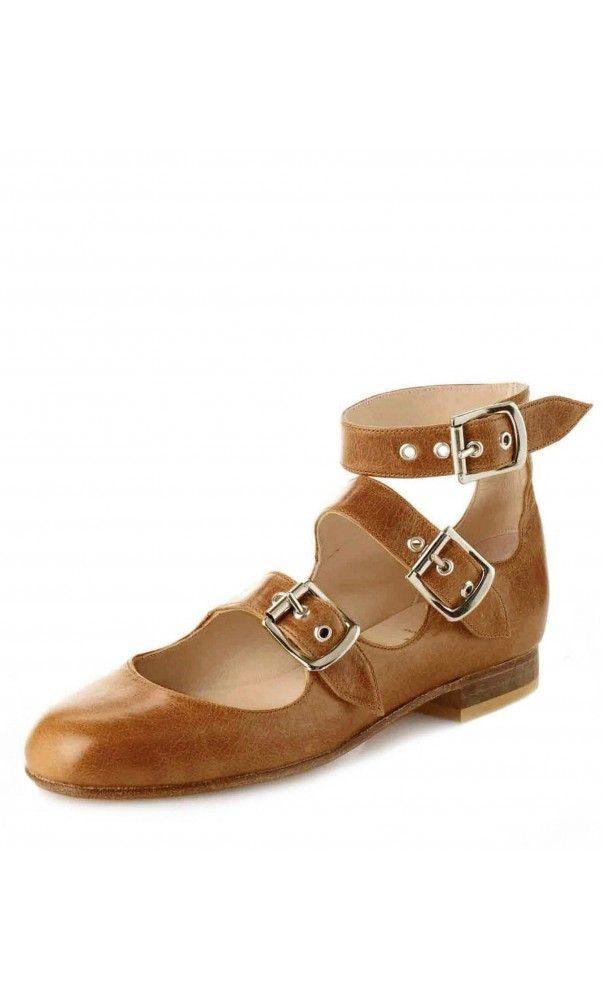 ad985ef68b94d2 Vivienne Westwood Roman Three Straps Shoes Tan  ss16  inspiration  vogue
