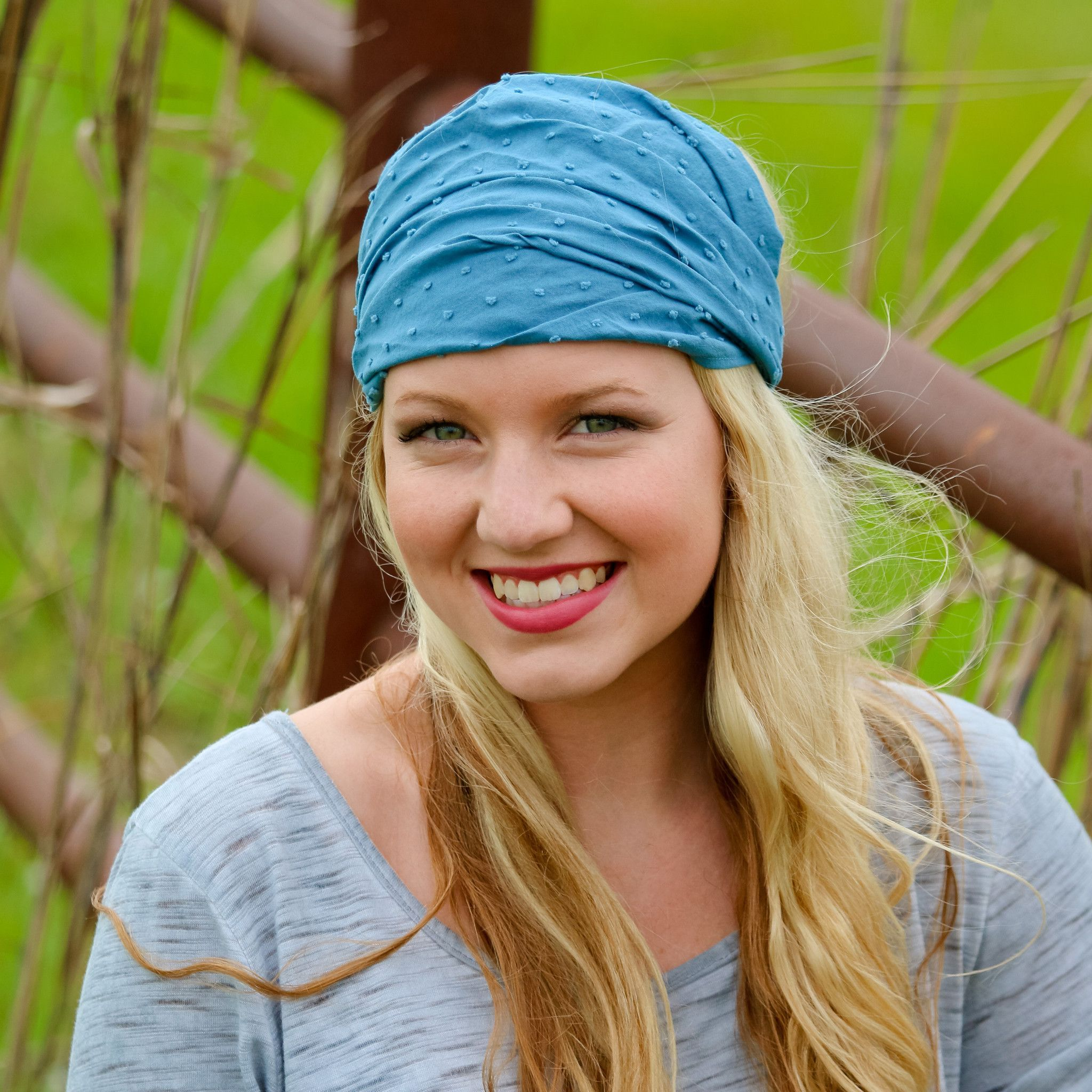 Chambray Blue Extra Wide Headband