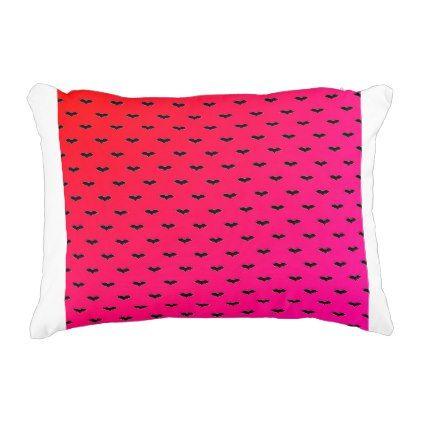 Tiny Bats Pink Decorative Pillow Halloween Decor Diy Cyo Interesting Tiny Decorative Pillows