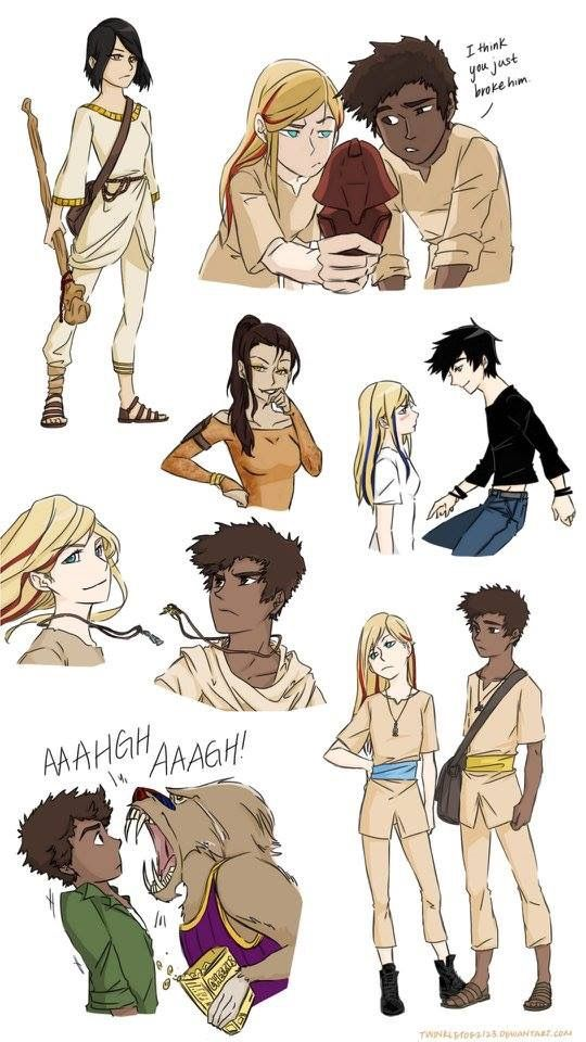Scenes and characters from The Kane Chronicles.