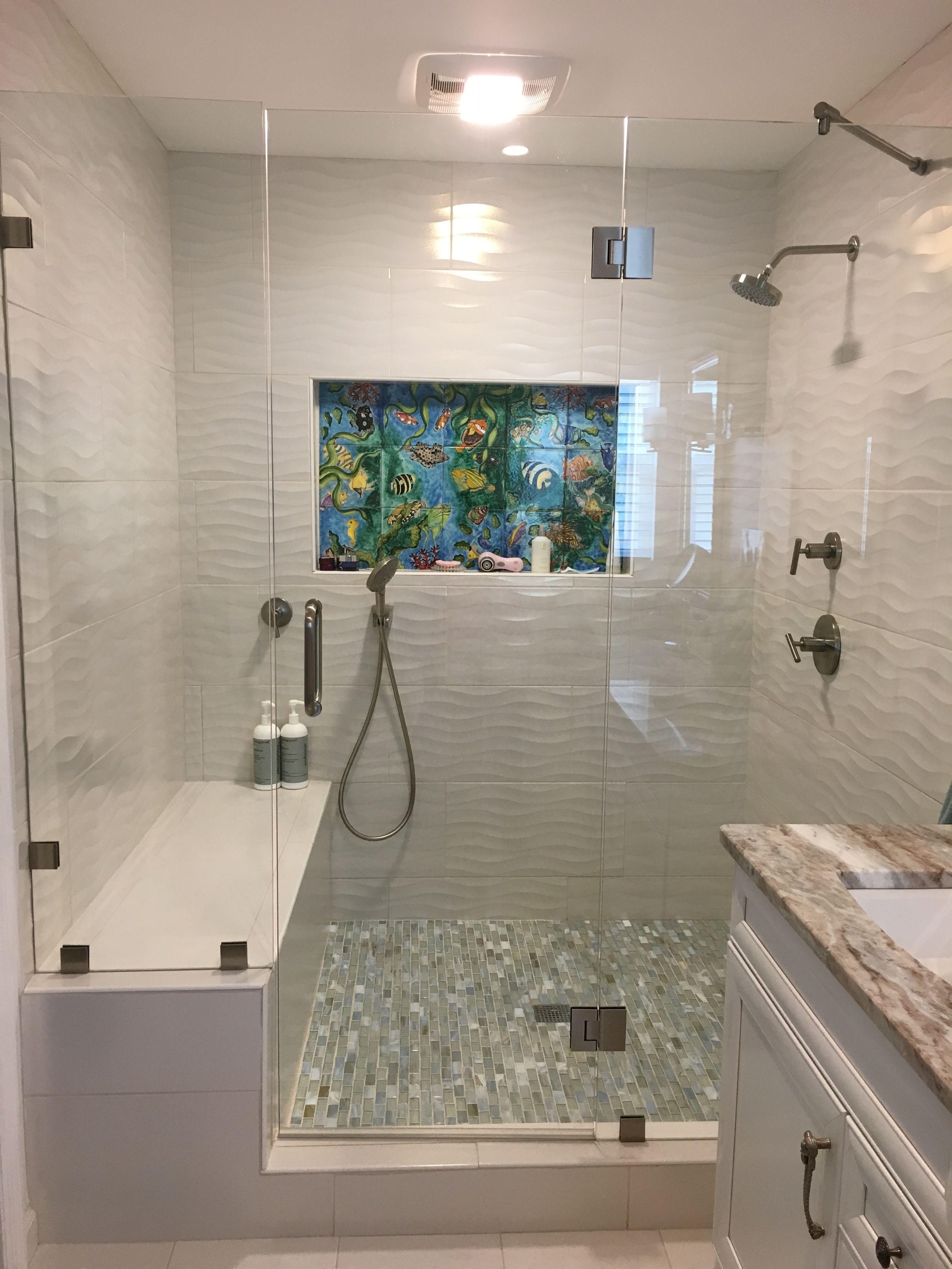 beach shower tommy bahama tile floor