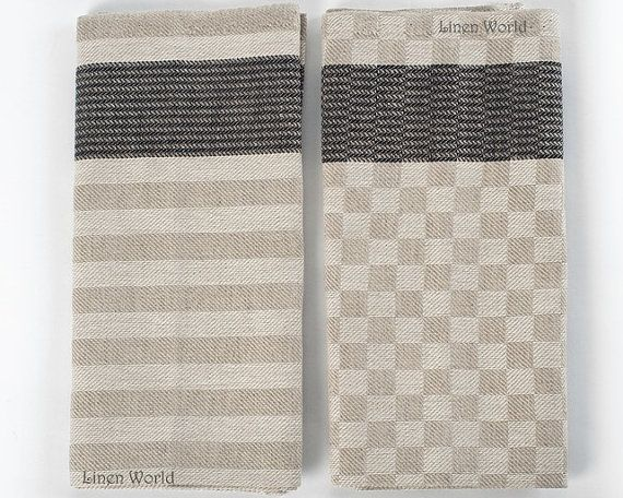 Nice 2 Linen Tea Towels. *** Made Of Durable And Absorbent Higher Quality Organic