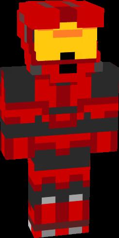 Halo Minecraft Red Halo NovaSkin Gallery Minecraft Skins - Skin para minecraft pe de marshmello