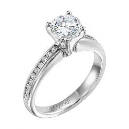 Stunning Solitaire Engagement Ring From Wedding Day Diamonds Only 1 660 Artcarved Engagement Ring Wedding Day Diamonds Elegant Engagement Rings