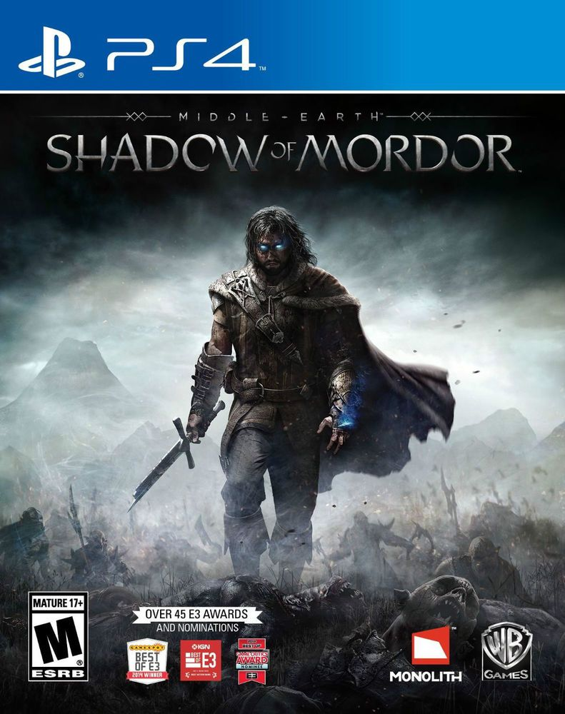 Middle Earth Shadow Of Mordor Sony Playstation 4 Ps4 New