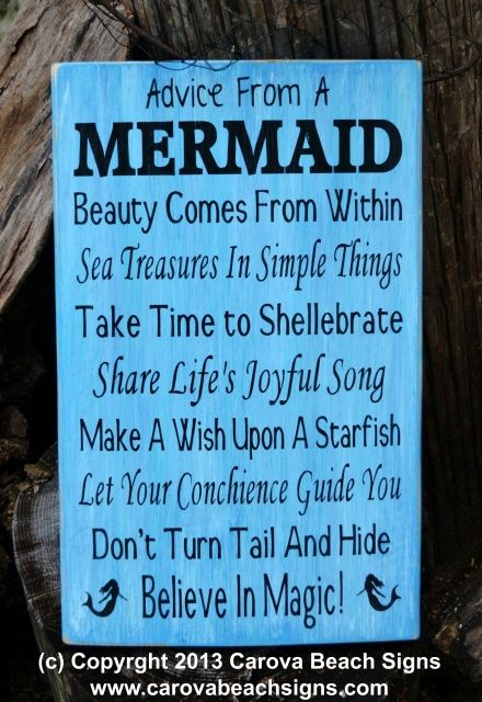 Beach Signs Decor Endearing Advice From A Mermaid Mermaid Décor Mermaids Sign Poem Quotes 2018