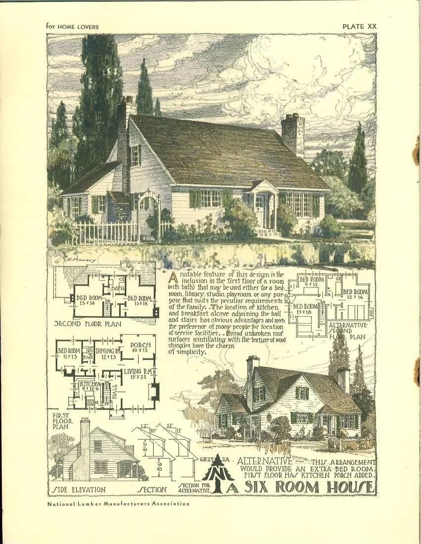 Pin By Kathy Cutforth On House Plans Building House Plans Designs Cottage Style House Plans Vintage House Plans