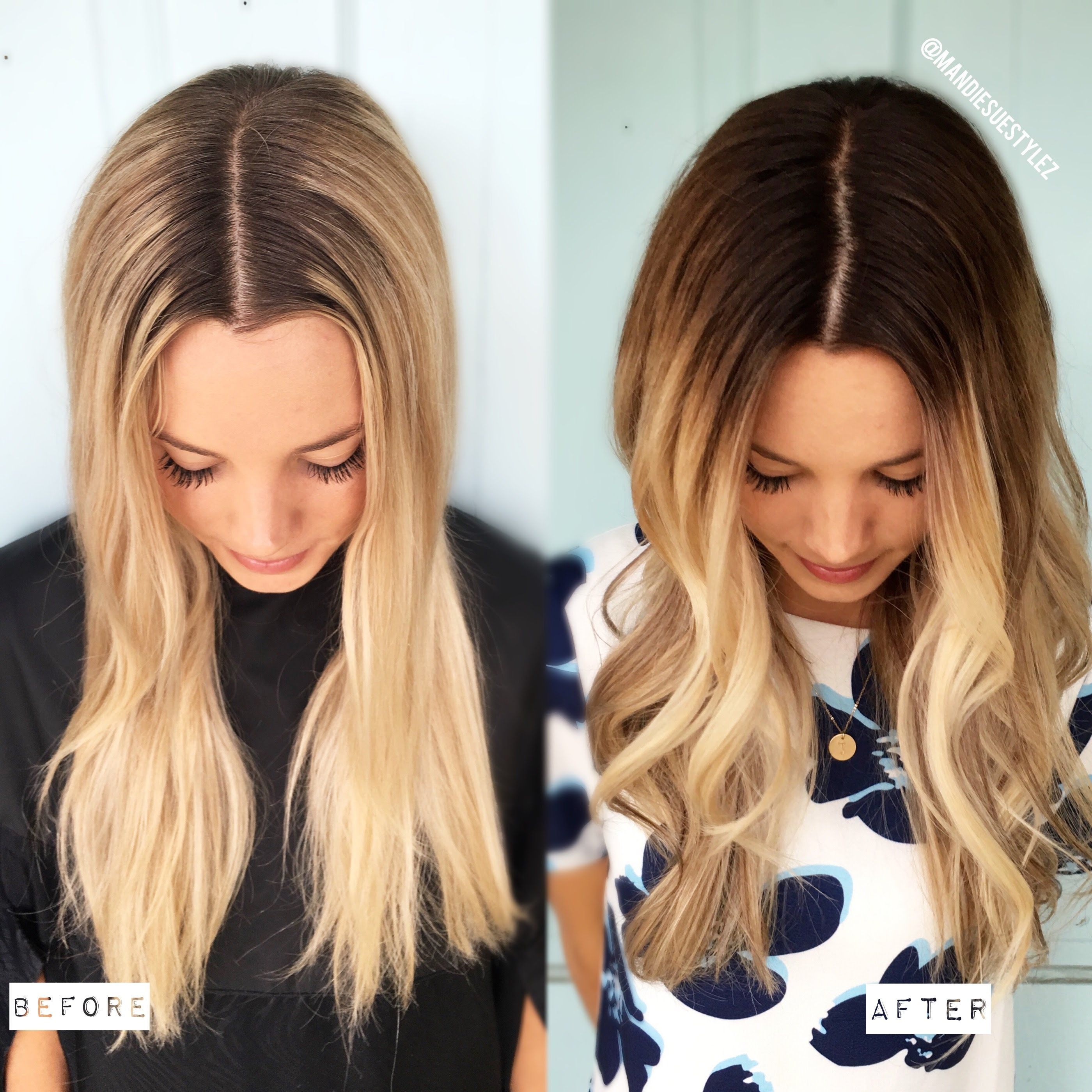 Demarcation Line To Melted Blonde Formula Included Styles