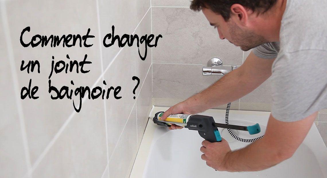 Joint de baignoire comment le retirer et le poser - Joint pret a poser salle de bain ...