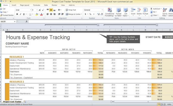Project Cost Tracking Spreadsheet Template Check more at   - sample spreadsheet