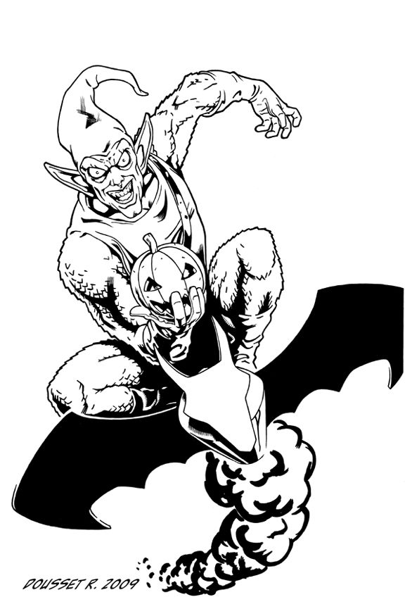 spiderman hobgoblin coloring pages | The Green Goblin is the alias of several supervillains ...