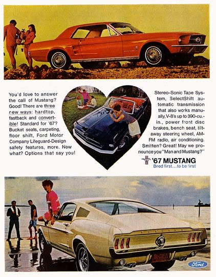 Directory Index Mustang 1967 Car Ads Mustang Ford Mustang