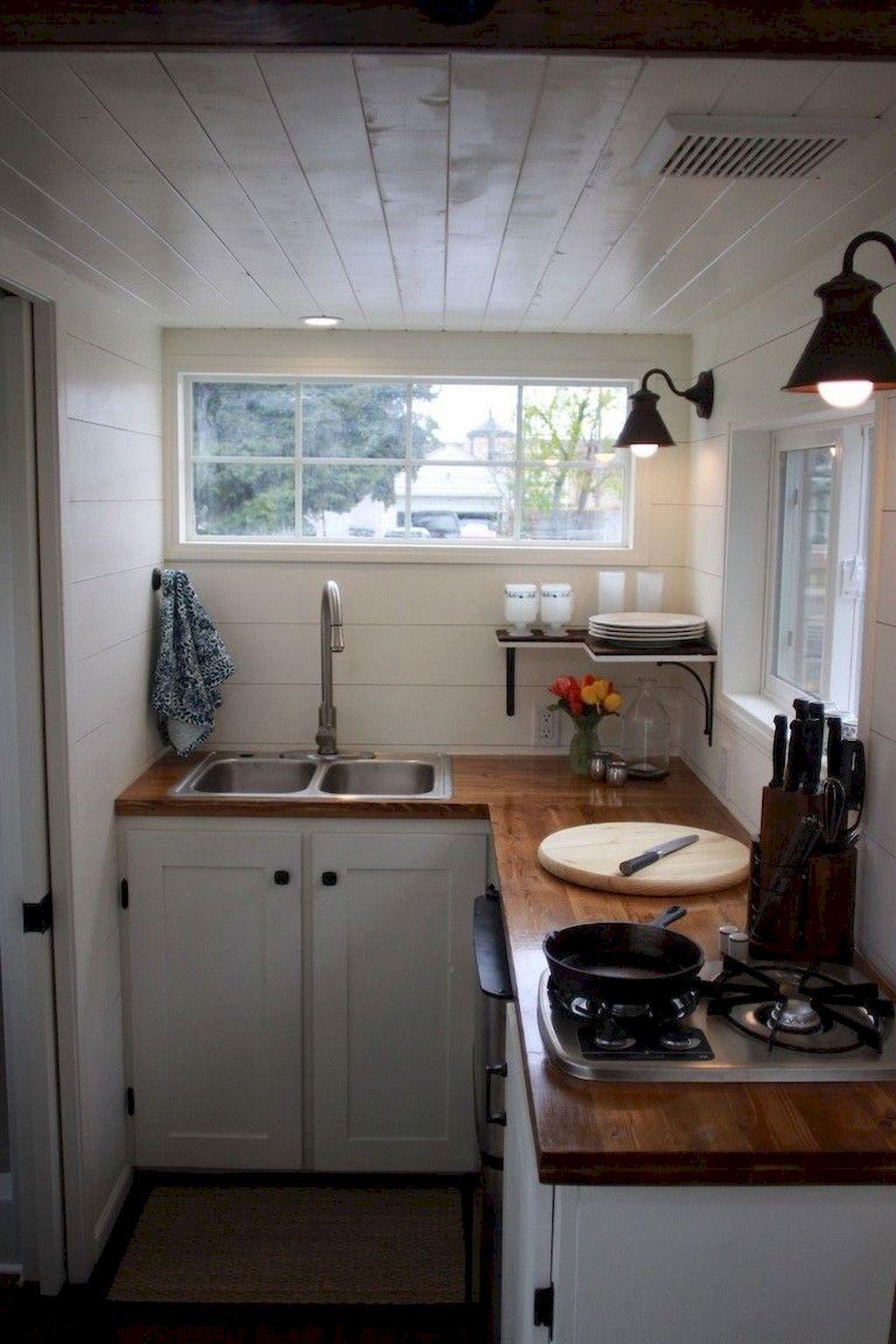 70 Tiny House Kitchen Storage Organization and Tips Ideas ...