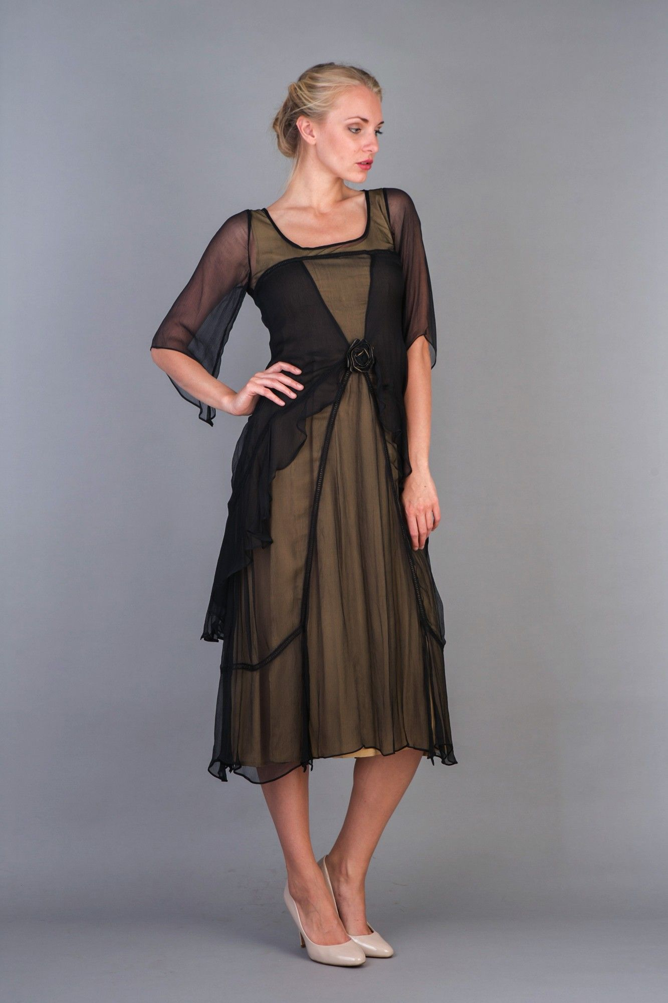 Great gatsby party dress in black gold by nataya gatsby party