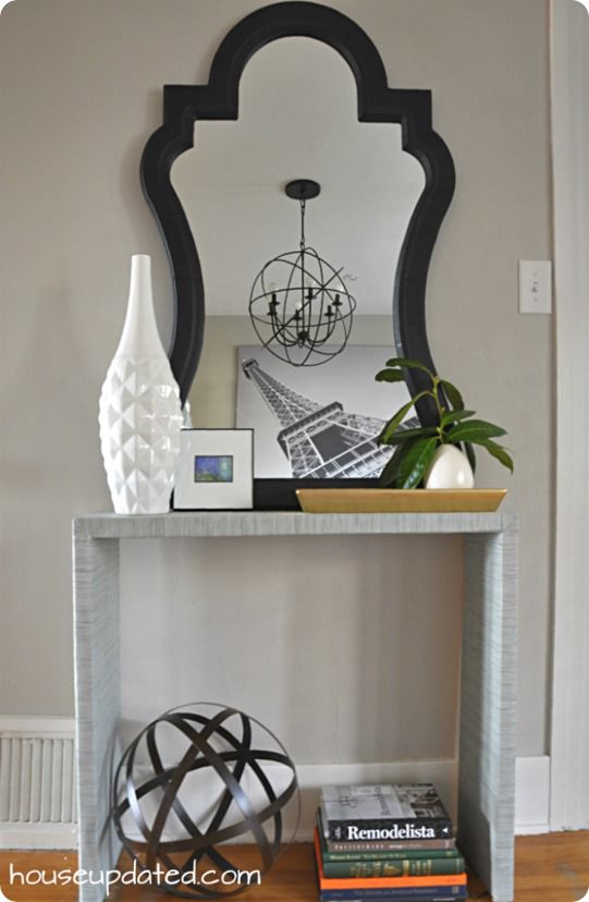 Fabric Covered Parsons Console Table {Crate U0026 Barrel Inspired}