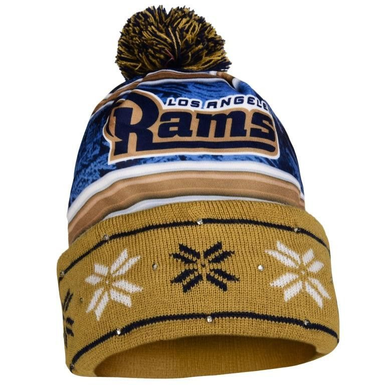 d273dd782a7 Los Angeles Rams NFL Wordmark Light Up Printed Beanie
