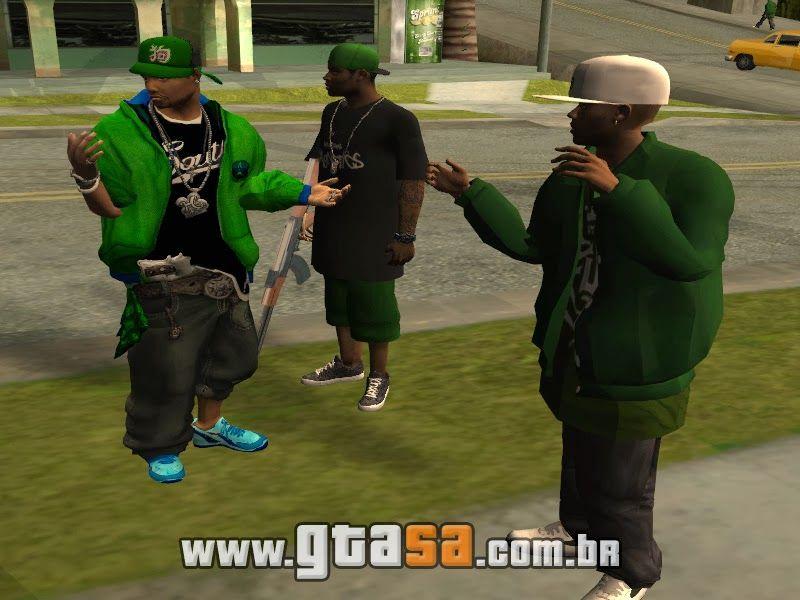 Ballas Mods Gta San Andreas Skins Das Gangs Grove E Ballas Do