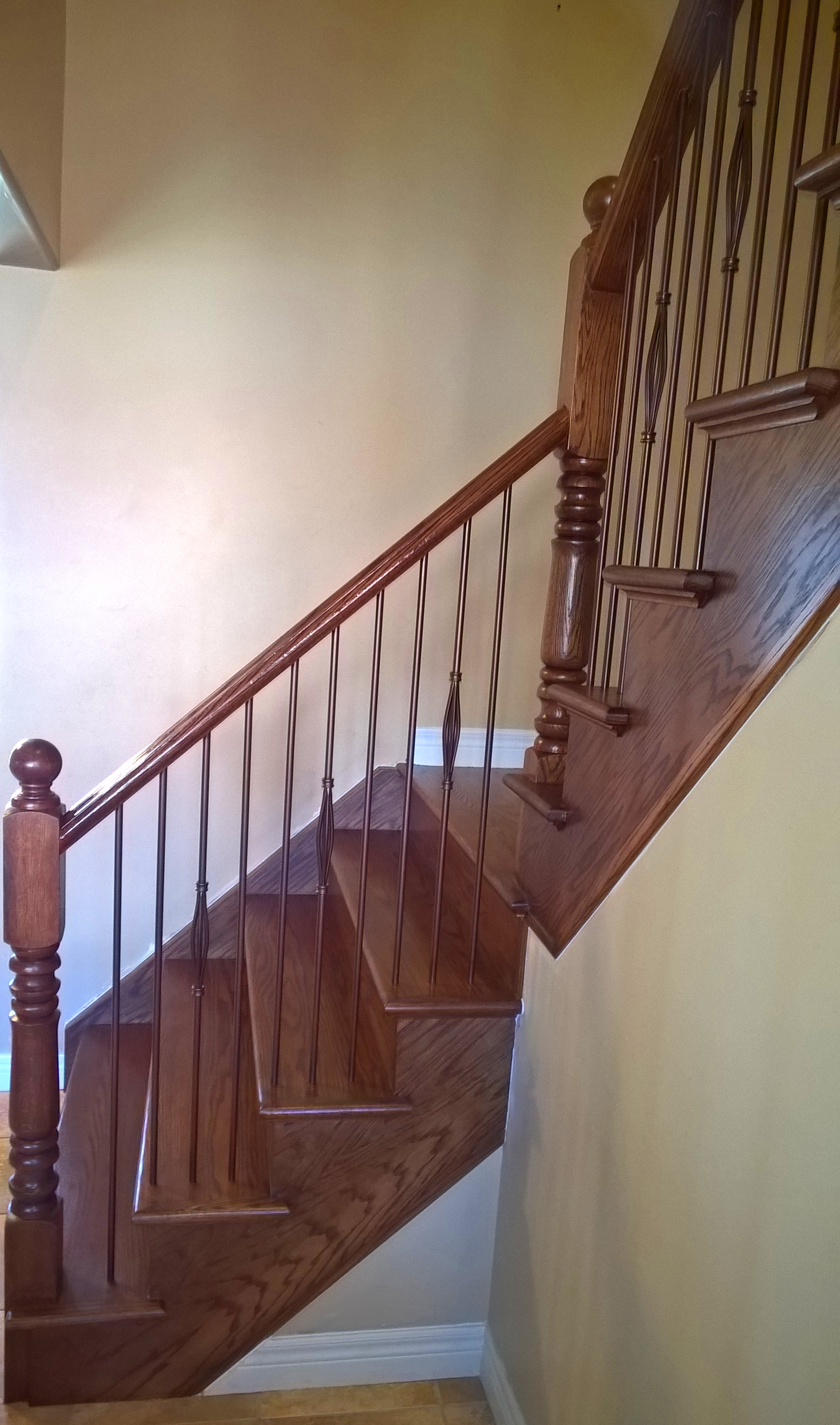 Best Stairs Capping Refacing Special Walnut Stain On Red Oak 400 x 300