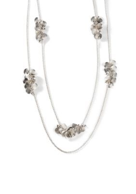 Kim Rogers  Silver-Tone Brianna Multistrand Necklace