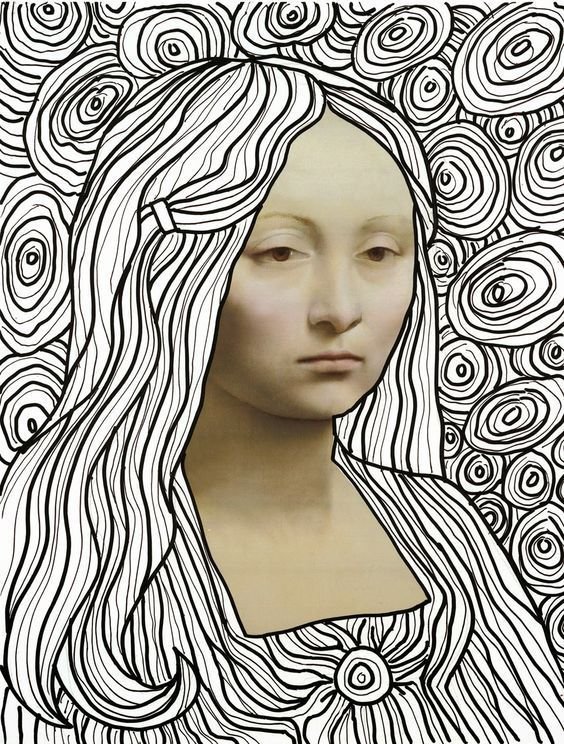 Diy 16 Kleurplaten Mona Lisa Mixed Media And Collage